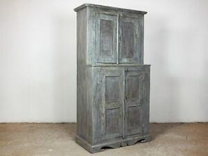 Vintage Antique Worn Paint Kitchen Housekeepers Cupboard MILL-804