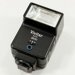 Vivitar Auto Thyristor 2600 Hot Shoe Mount Flash for Digital or Film SLR Cameras