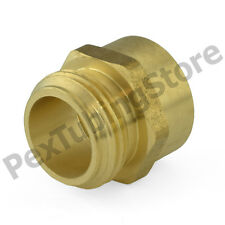 "3/4"" Male Garden Hose x 3/4"" Female NPT Threaded Brass Adapter Connector Fitting"