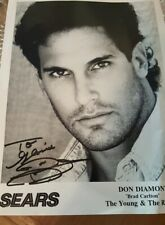 """DON DIAMONT SIGNED PHOTO THE YOUNG AND THE RESTLESS """"Brad Carlton"""""""