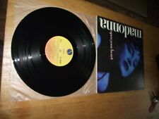 """madonna open your heart 12"""" maxi single excellent record & sleve huge collection"""