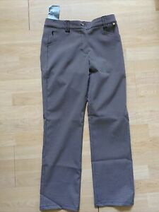 NWT Golfino Ladies Printed Golf Trousers 3260424 890 Black Sz 14 NEW