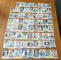 Rare Huge Lot of 71 1985 Topps Baseball Mis-Cut Error Cards w/McGwire Rookie Run