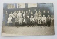 Antique Early 1900`s Swedish Kids Children School Photo Postcard