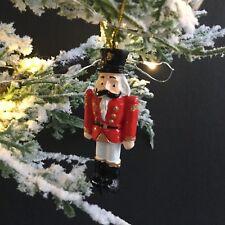 soldier nutcracker christmas tree decoration red coat vintage traditional - Vintage Plastic Christmas Decorations
