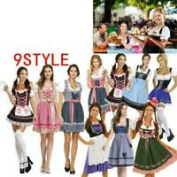 Women's Oktoberfest Bavarian Beer Cosplay Drindl Tavern Maid Costume Fancy Dress