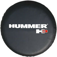 "Spare Tire Cover For Hummer H3 16inch(30""-31"")  Black Heavy Vinyl Hi-Q W Logo"