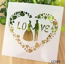 Wedding Love Pattern Layering Stencil Template DIY Scrapbooking Home Decorate