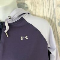 Under Armour Cold Gear Running Jacket Women's XS Purple Hooded Full Zip