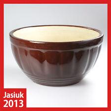 vintage huge Ceramic Pottery Stoneware Earthenware Brown Bowl 6L 6 Litre - heavy