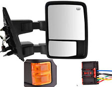 Driver Side Mirror for Ford F250 F350 F450 Power Heated Towing w/ Orange Signal