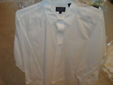 DKNY DONNA KARAN NEW YORK WHITE MENS DRESS SHIRT XL EXTRA LARGE LS LONG SLEEVES