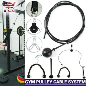 Fitness Pulley Cable Machine Attachment Home System Arm Biceps Triceps Workout