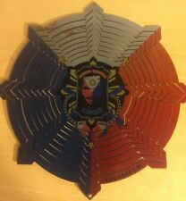 """New listing Manny Pacquiao Pac Man Painted Round Metal Spinner Suncatcher, Wind Mobile, 11"""""""