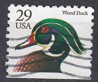 USA Briefmarke gestempelt 29c Wood Duck schwarze Schrift / 2437