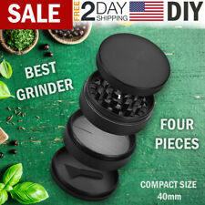 Tobacco Herb Grinder Spice Herbal Mill 4 PC Metal Chromium Alloy Crusher