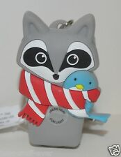 BATH BODY WORKS RACCOON BIRD NO LIGHT POCKET  BAC HOLDER SANITIZER KEYCHAIN