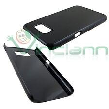 Custodia cover rigida effetto METALLO BRUSHED NERO per Samsung Galaxy S6 G920F