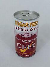 CHEK SUGAR FREE CHERRY COLA SODA CAN METAL 12 OZ VINTAGE ALUMINUM PULL TAB 70s