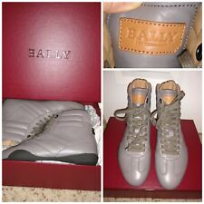NIB Bally Grey Leather Athletic Boots Sz 7 free shipping