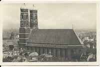 Ansichtskarte München - Frauenkirche vom Petersturm gesehen -  schwarz/weiß