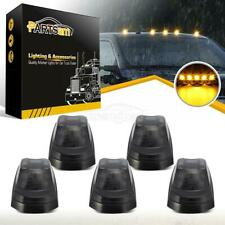 (5) Smoke Lens/Amber Light Roof Top Cab Marker Light for 17-19 Ford super duty