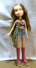 BRATZ DOLL LIGHT BROWN HAIR HIGHLIGHTS JEAN SKIRT HANDBAG