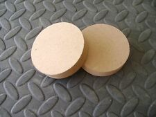 """2 X 3"""" MDF WOODEN CIRCLE PLAQUE TROPHY STAND PLINTH 18mm"""
