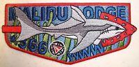 MALIBU LODGE 566 WLAC BSA SCOUT PATCH SHARK 2015 NOAC OA 100TH CENTENNIAL FLAP