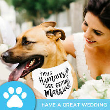"Dog Scarf Puppy Pet Supplies ""My Humans Are Getting Married"" Pet Bandana Cat"