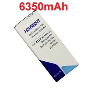 HSABAT 6350mAh EB-BN910BBE Note4 Battery for Samsung Galaxy Note 4 Battery N910H