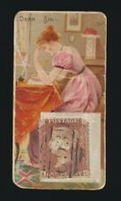 """1889 N85 Duke's Cigarettes POSTAGE STAMPS (""""Genuine Foreign"""") -Dear Sir"""