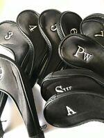 10 Neoprene JL Golf Club Headcovers Head Cover Iron Protect Set All black