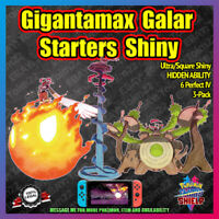 Gigantamax Galar Starters Shiny 3-Pack | 6IV | Pokemon Sword Shield