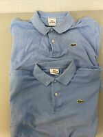 Lacoste Mens Short Sleeve Collared Polo Shirts Blue Size 5 Lot 2