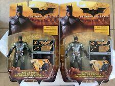 Action Figure Movie Series Batman Begins Battle Gear 2 figure lot both very nice