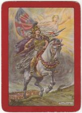 Playing Cards 1 Single Swap Card Antique Wide WW1 BRITANNIA Horse SOLDIERS Angel