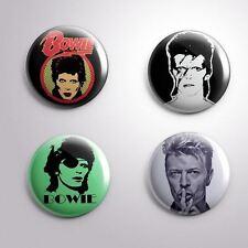 4 David Bowie - Pinbacks Badge Button Pin 25mm 1''