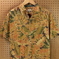 TERRITORY AHEAD short sleeve shirt LARGE floral tropical tribal print abstract