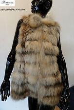 PELLICCIA di volpe fox fur vest fourrure renard Fuchspelz pelz zorro gilè giacca