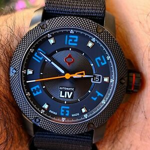 LIMITED EDITION LIV GX1-A Sky Blue SWISS Automatic watch