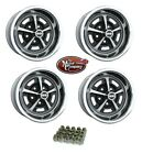 1969 1970 El Camino 14 x 7 SS Silver Black Painted Complete Wheel Set Minor Blem  for sale
