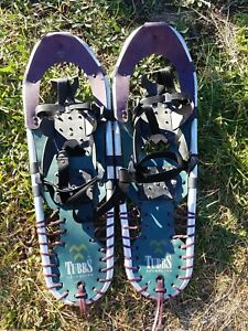 Tubbs Green Snowshoes w/ lacing 25 x 8 Back Country Snow Shoes Made USA Great!