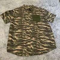 Roebuck & Co Shirt Camo Flannel Button Up Mens MED Pocket Camouflage