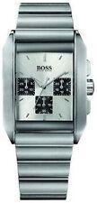 Rechteckige gebürstete Armbanduhren aus Edelstahl für Herren