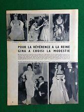 PX67 Clipping Ritaglio (1954) 35x27 SOFIA LOREN CANALE ROSSI DRAGO LOLLOBRIGIDA