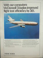 6/1972 PUB RANK XEROX DATA SYSTEMS MCDONNELL DOUGLAS DC-10 FLIGHT TEST AD