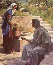 Harry Anderson - WOMAN AT THE WELL - 8x10 Vintage Mounted Bible Art Print RARE