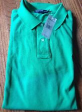 NWT Men's Polo Ralph Lauren SS Classic Fit Cotton Polo Shirt Green XLarge