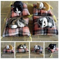 Cute Plush Stuffed Toy Sleeping Cat Simulation Animal Kids Doll Gift
